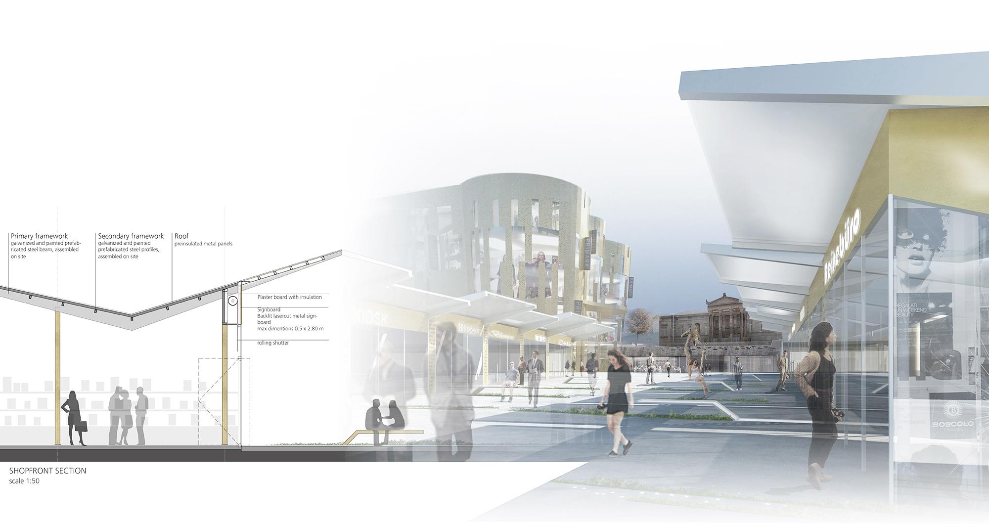 Neugestaltung Wuppertal Döppersberg Ideenwettbewerb Brückenpavillons