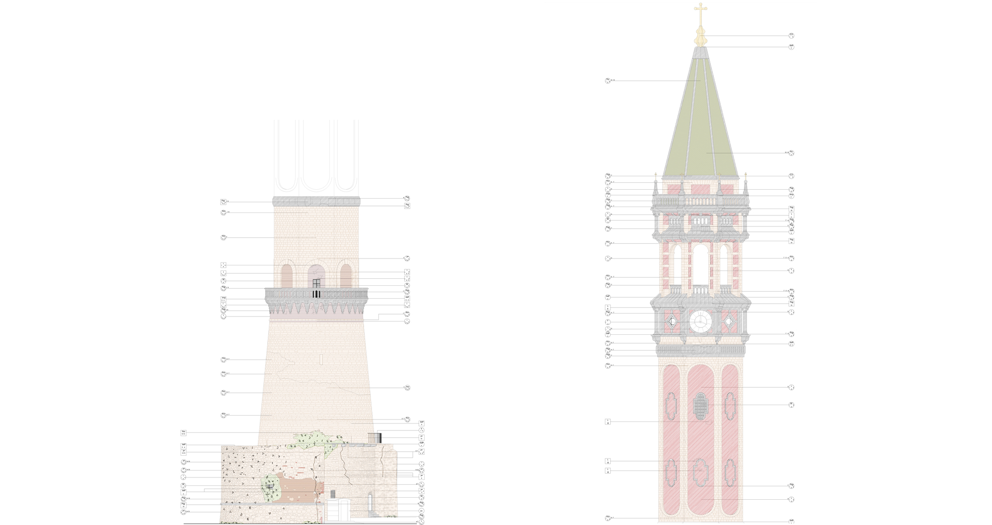 Restoration of San Niccolò bell tower in Lecco