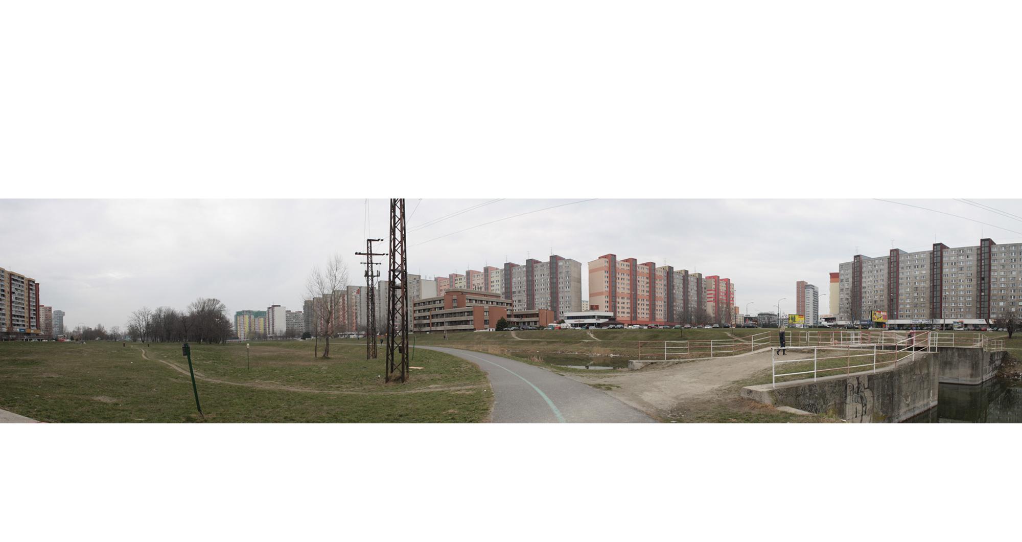 People meet in Petržalka